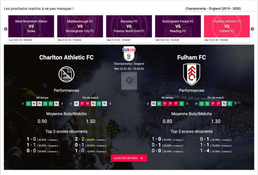 Charlton VS Fulham Pronostiques Football
